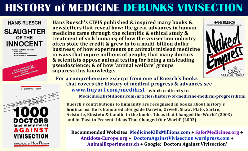 Best Good Quotes Memes Anti Pro Debunk Refute Why Against Animal Testing Experiments Wrong Right Bad Science Medical Health Research Experts Doctors Hans Ruesch Slaughter of the Innocent Naked Empress 1000 Doctors Against Vivisection books